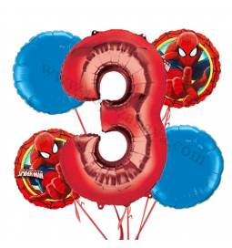 Spiderman balonska dekoracija, 2. rojstni dan