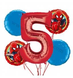 Spiderman balonska dekoracija, 4. rojstni dan