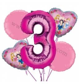 Princeske balonska dekoracija, 2. rojstni dan