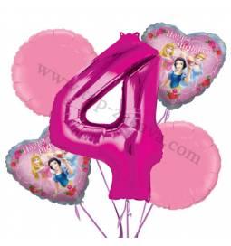 Princeske balonska dekoracija, 3. rojstni dan