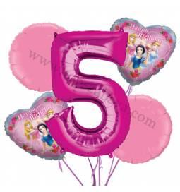 Princeske balonska dekoracija, 4. rojstni dan