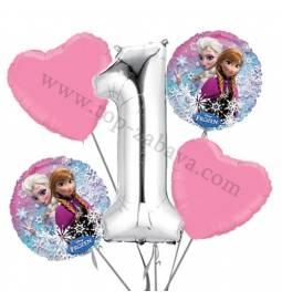 Princeske balonska dekoracija, 1. rojstni dan
