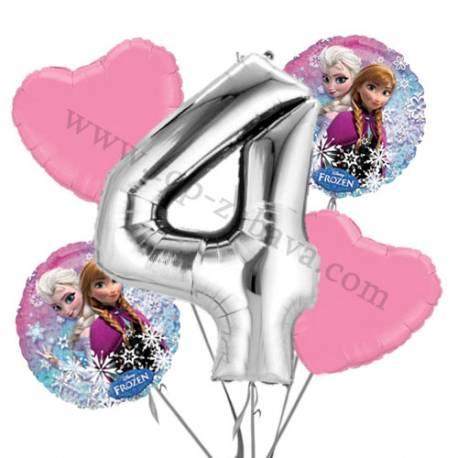 Frozen balonska dekoracija, 3. rojstni dan