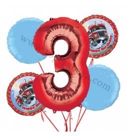 Gasilci balonska dekoracija, 2. rojstni dan