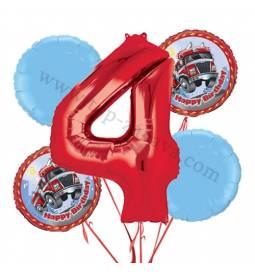 Gasilci balonska dekoracija, 3. rojstni dan