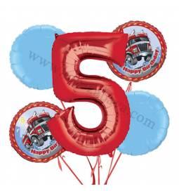 Gasilci balonska dekoracija, 4. rojstni dan