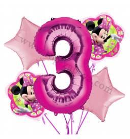 Minnie Mouse balonska dekoracija, 2. rojstni dan