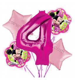 Minnie Mouse balonska dekoracija, 3. rojstni dan