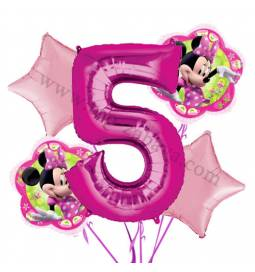 Minnie Mouse balonska dekoracija, 4. rojstni dan