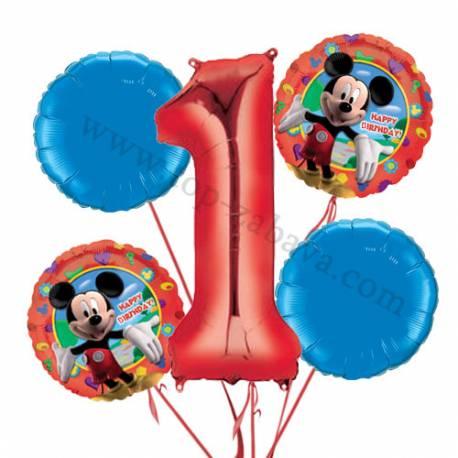 Minnie Mouse balonska dekoracija, 1. rojstni dan