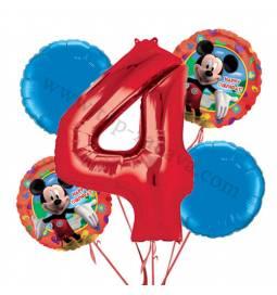 Miki Mouse balonska dekoracija, 3. rojstni dan