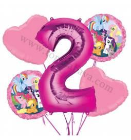 My Little Pony balonska dekoracija, 1. rojstni dan