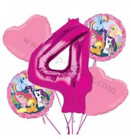 My Little Pony balonska dekoracija, 3. rojstni dan