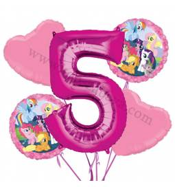 My Little Pony balonska dekoracija, 4. rojstni dan