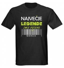 Majica za rojstni dan, Legende marec, črna
