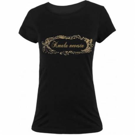 Majica za dekliščino Pozor dekliščina, črna