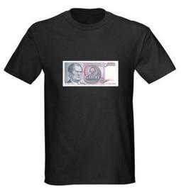 Majica Yu denar 5000, črna