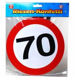 XXL konfeti za 70 rojstni dan, Stop znak