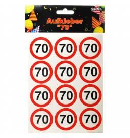 Nalepke Stop znak 70 let
