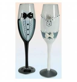 Set poročnih kozarcev Bride/Grom
