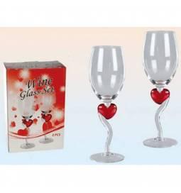 Set poročnih vinskih kozarcev Srca