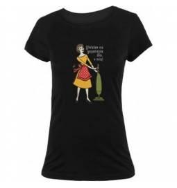 Majica Obvladam gospodinjstvo, črna