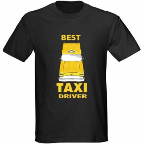 Majica za rojstni dan Najboljši taksist - črna