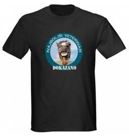 Majica za rojstni dan Najboljši veterinar - črna