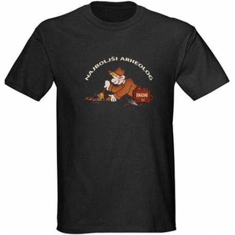 Majica za rojstni dan Najboljši arheolog - črna