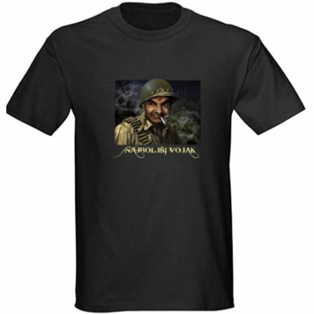 Majica za rojstni dan Najboljši vojak - črna