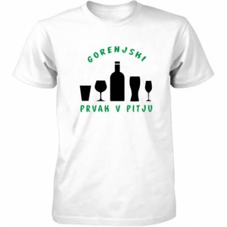 Majica Gorenjski prvak v pitju