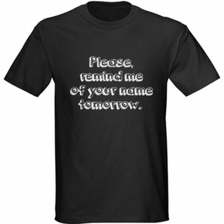 Majica Remind me, črna