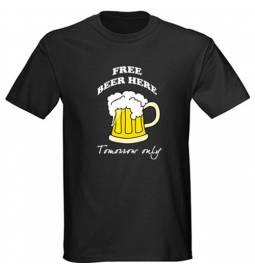 Majica Free beer, črna
