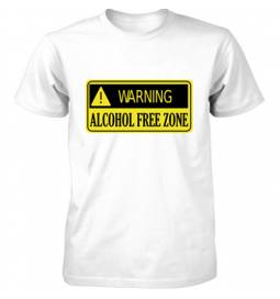 Majica Alcohol free zone