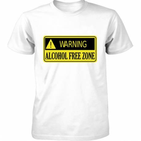 Majica Alcohol free zone