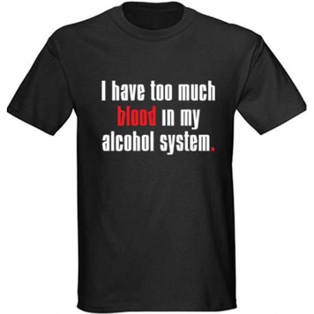 Majica Too much blood - črna