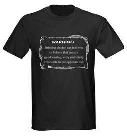 Majica Warning, črna