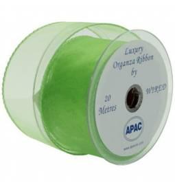 Organza trak širine 3 cm, Svetlo zelen