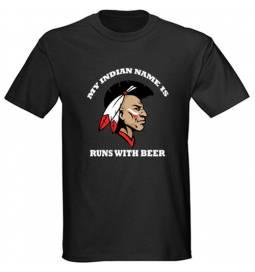 Majica Indian name, črna