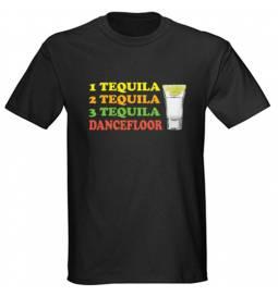 Majica Tequila dancefloor, črna