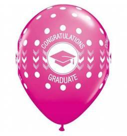 Baloni 10/1 Maturantska kapa, pink