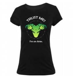 Ženska majica Zaupaj mi, Oven, črna