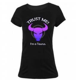 Ženska majica Zaupaj mi, Bik, črna