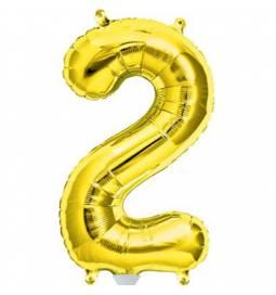 Folija balon številka 1, zlata 41 cm