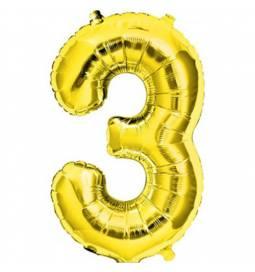 Folija balon številka 2, zlata 41 cm