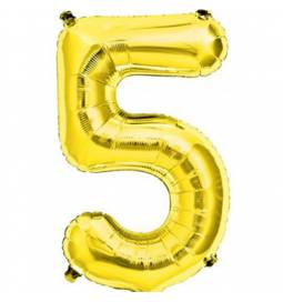 Folija balon številka 4, zlata 41 cm