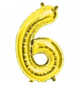 Folija balon številka 5, zlata 41 cm