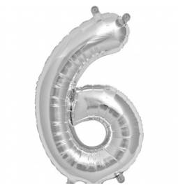 Folija balon številka 6, zlata 41 cm
