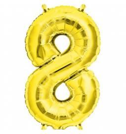 Folija balon številka 7, zlata 41 cm