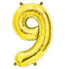 Folija balon številka 8, zlata 41 cm